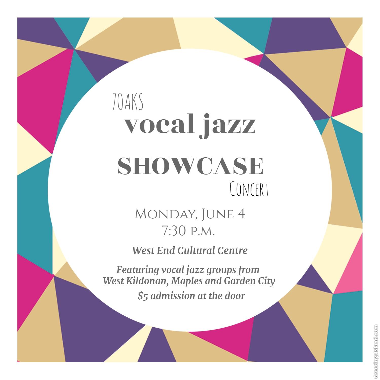 High School Vocal Jazz Showcase Concert